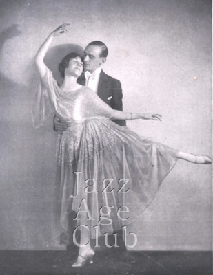Moss and Fontana in the Midnight Follies cabaret at the Metropole Hotel, London, 1923