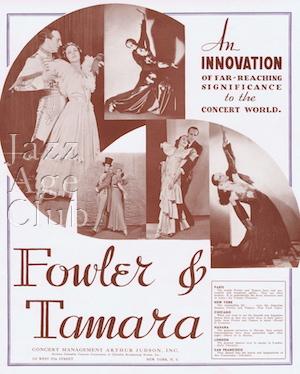 Fowler and Tamara's dancing tour, 1936