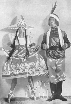 Natacha Nattova and Gene Myrio in Albert de Courville's Whirl of the World at the Palladium Theatre, London, 1925