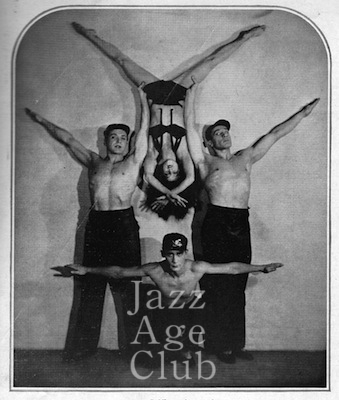 Natacha Nattova and her adagio troupe in their Geometrics act, 1930