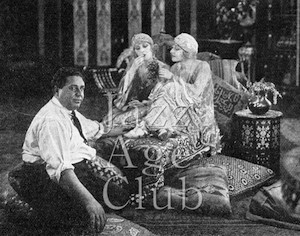 Leonce Perret and the Dolly Sisters on set of The Million Dollar Dollies (1918)