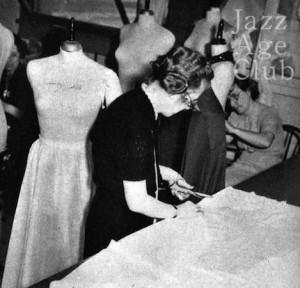 Birth of a gown no3: cutting the pattern