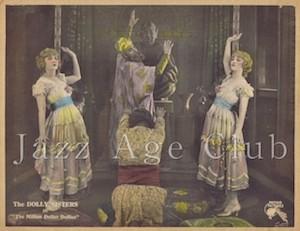Lobby card for the film The Million Dollar Dollies (1918)