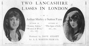 Part of the press kit / brochure for Two Lancashire Lasses in London