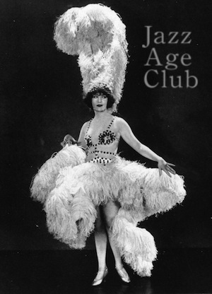 Betty Compson wearing her exotic ostrich feather costume designed by Dolly Tree in Woman to Woman (1923)