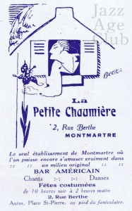 Advert for La Petit Chaumiere, Paris