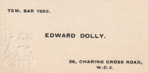 Edward Dolly's business card