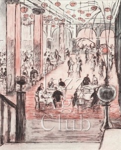 A Sketch of the interior of Murray's nightclub