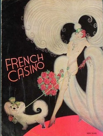 Art deco advert for the French Casino, New York