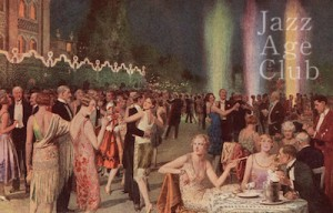 A night-time view of the outdoors cabaret Chez Nous at the Hotel Excelsior, Lido , Venice, 1920s
