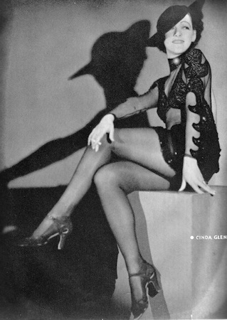 Cindi Glenn, the star in the cabaret show Folies D'Amour, New York (1936) and London (1937)