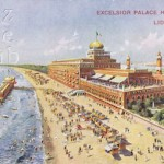 A view of the Hotel Excelsior, at the Lido Venice, 1920s