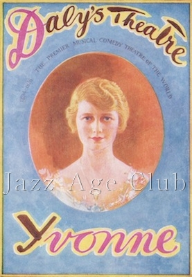 The programme cover for Yvonne at Daly's Theatre, London, 1926