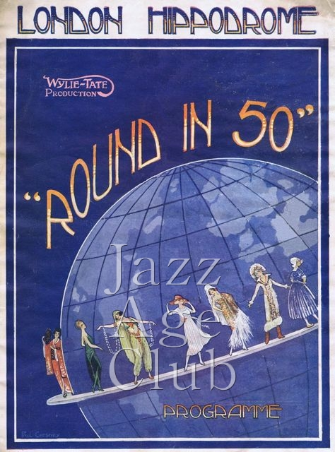 Programme cover for julian Wylie's Round in 50 at the London Hippodrome, 1922