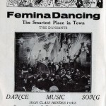Advert for the dancing establishment of Femina, Ostend, 1920s