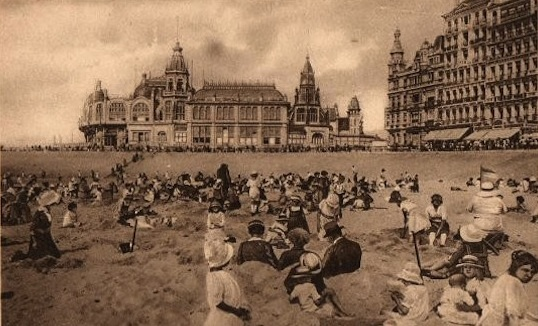 The Ostende Sea Front, 1920s with the Kursall Casino