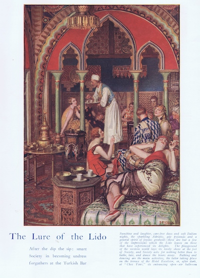 The Lure of the Lido, Venice: smart society in the Turkish Bar, Hotel Excelsior, 1927