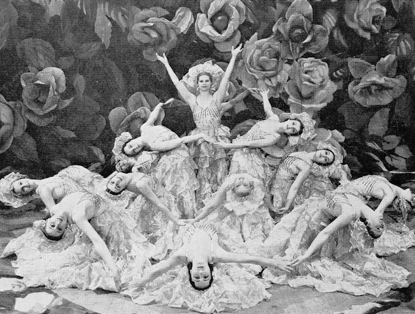 Carpet of Roses scene in the cabaret show Folies Parisienne, staged in Chicago (1935), Miami (1936) and London (1936)