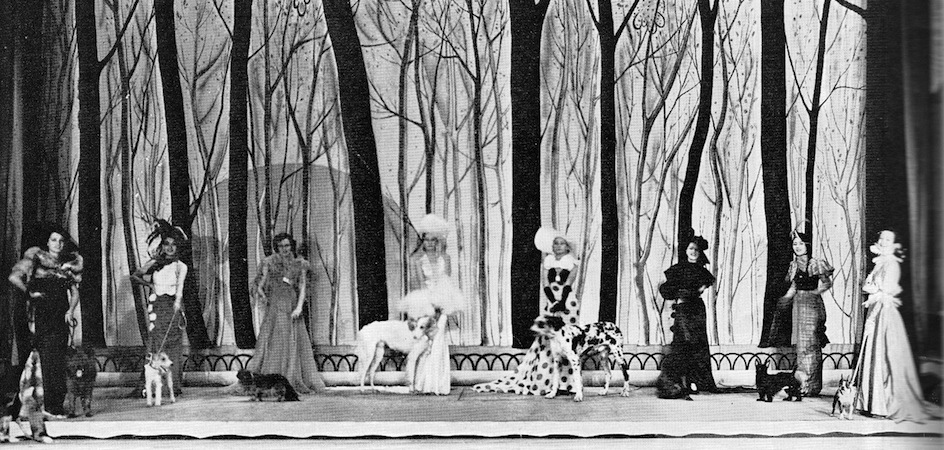 The Ladies and the Dogs scene in the cabaret show Folies Parisienne, staged in Chicago (1935), Miami (1936) and London (1936)