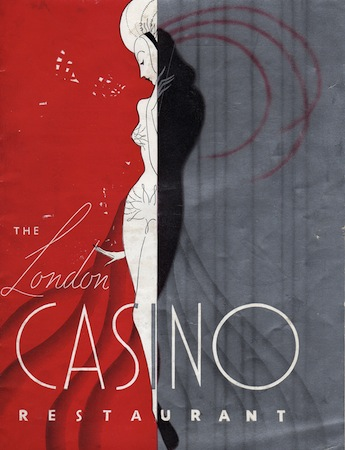 Programme cover for the London Casino