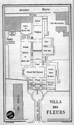 Plan of the Villa des Fleurs in Aix-Le-Bains
