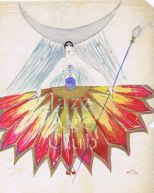 A costume design by 'Gene' seen at the opening of the Tivoli Theatre, Washington DC, 1924