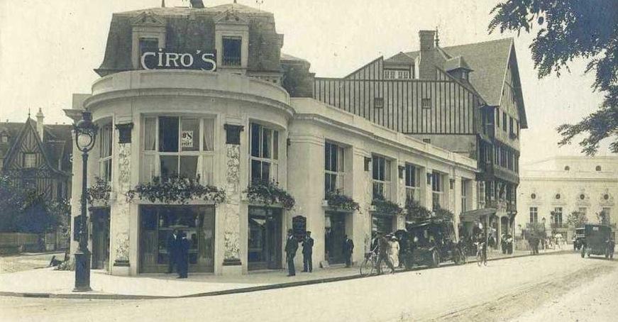 The exterior of Ciro's restaurant, Deauville