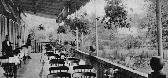 A view of the terrace at Murray's River Club, Maidenhead