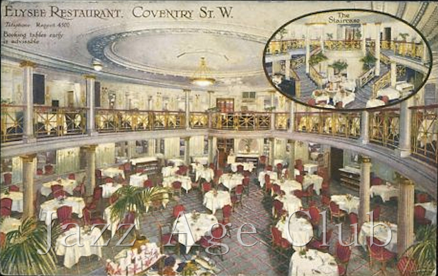 The original Elysee Restaurant, renamed the Cafe de Paris