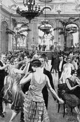 Dancing in the ballroom of the Hotel Cecil