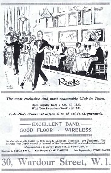 Advert for Maxim's Club, formerly Maxim'sin London, early 1920s