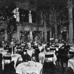 An interior view of the main dining room in Murray's Roman Gardens, New York