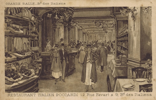 The entrance hall of Poccardi restaurant, Paris