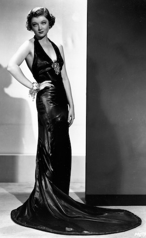 Myrna Loy wearing a Dolly Tree gown in The Thin Man