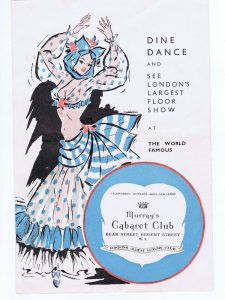 Cover of the programme from one of the shows at Murray's Cabaret Club, London