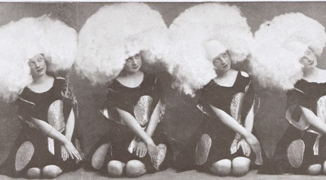 Part of the O Ma Gaby scene in the 1923 En Pleine Folie show at the Folies Bergere, Paris, designed by Dolly Tree