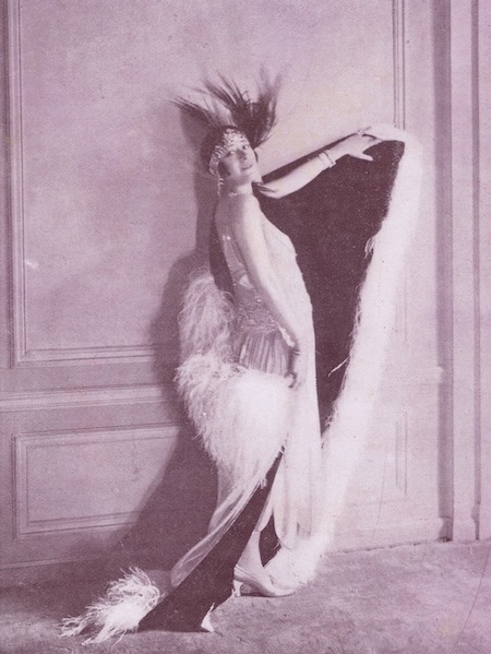 Jenny Dolly in her Molyneux creation that she wore when appearing at the Acacias night-club in the summer of 1922
