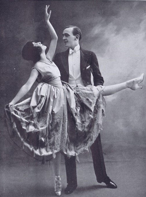 A portrait of the British dancing team of Moss and Fontana, 1920s