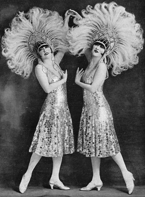 A portrait of the American dancers the Dolly Sisters, 1920s
