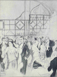 An interior image of the Acacias Night-club, Paris, 1920s