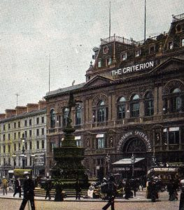 The exterior of the Criterion Restaurant, 1920s
