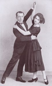 The exhibition dancers Ludo Mass and Muriel Webster appearing at the Italian Roof Garden, Criterion Restaurant, 1922