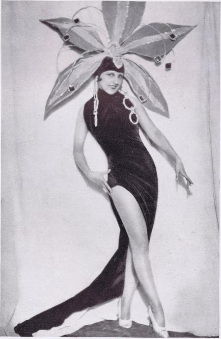 A portrait of the American dancer Dora Duby, 1920s