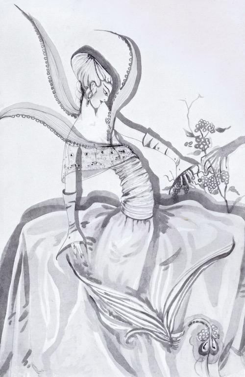 Artwork entitled 'Orchid' by Gladys Spencer Curling, 1927