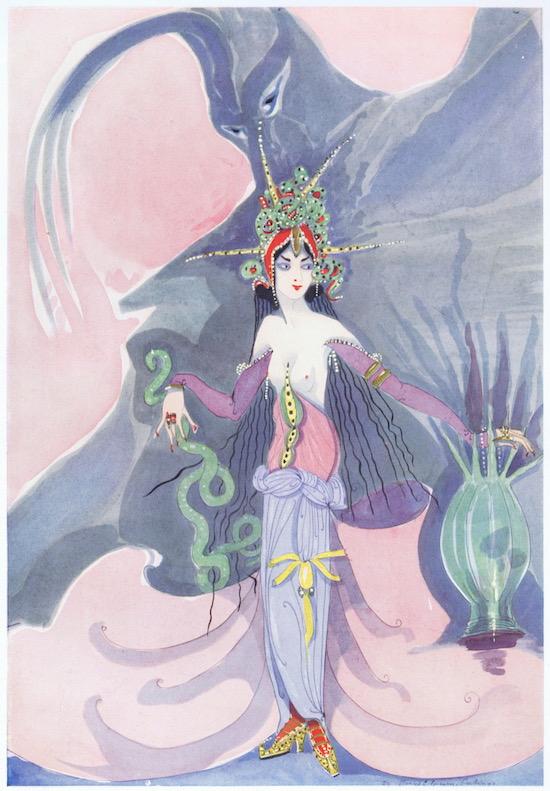 Artwork entitled 'Le Djinne' by Gladys Spencer Curling, 1927