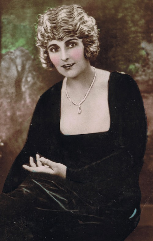 A portrait of the American actress Pearl White, 1920s