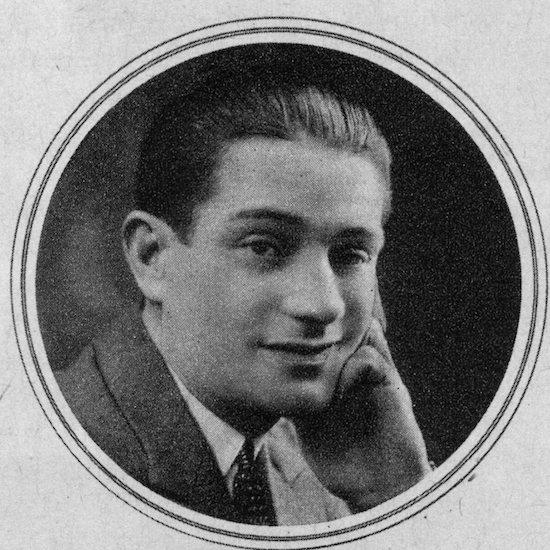 A portrait of Oscar Mouvet, 1920s