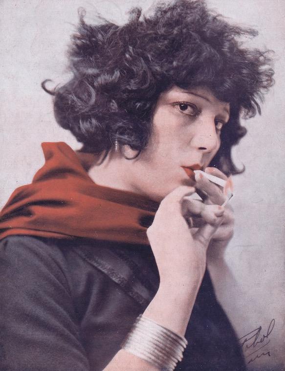 A portrait of the Spanish singer Raquel Meller, 1920s