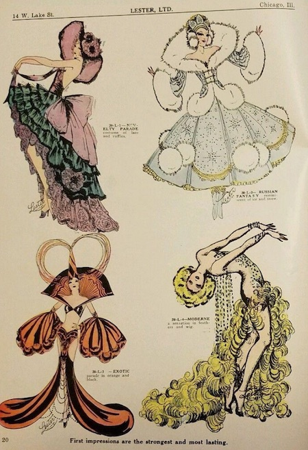 A page from Lester's costume magazine