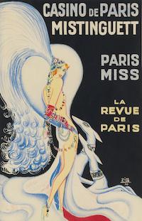 A poster design by Zig for the show Paris Miss at the Casino de Paris, 1929